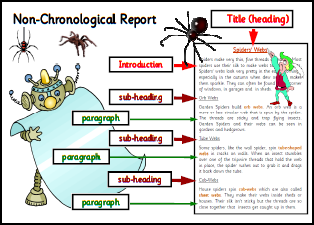 Writing non chronological for Report writing template ks1